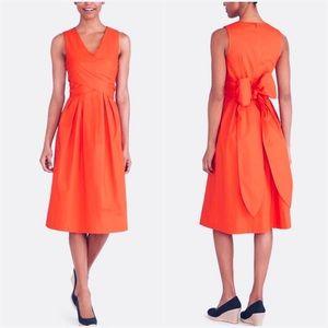 🆕 J. Crew Wrap Top Shirt Dress in Organic Cotton